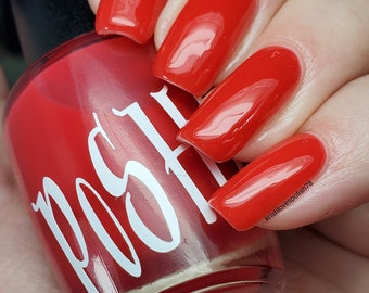 """Unique """"R U RED-Y?"""" Red - Light Red Pink Color Changing Thermal Mood Nail Polish Full Size 15ml Bottle Gift Present"""