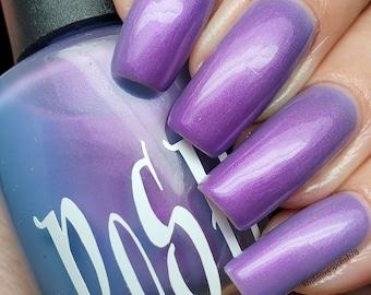 "Unique ""Dendrobium"" Solar Color Changing Shimmering Blue - Purple Nail Polish Sun UV Photochromic Full 15ml Bottle Gift Present"