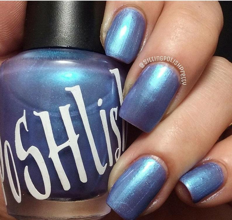 Unique Paradise Pearl Blue Mauve Nail Polish | Etsy