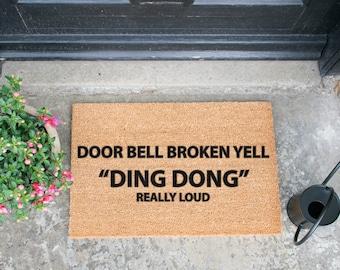 Doorbell Broken funny doormat - 60x40cm - Novelty Gift - Novelty Doormat by Artsy Doormats