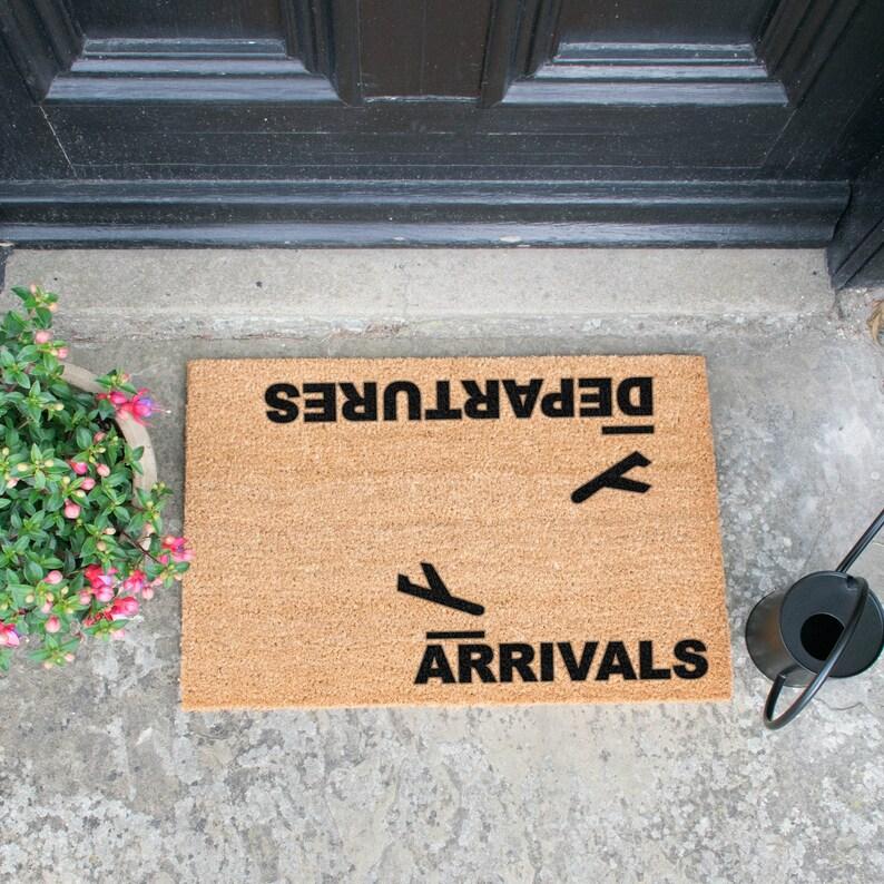 Arrivals Departures Doormat image 0