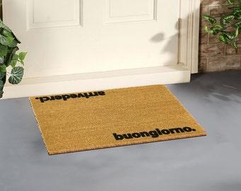 Arrivederci, Buongiorno Italian doormat - 60x40cm - Quirky doormat