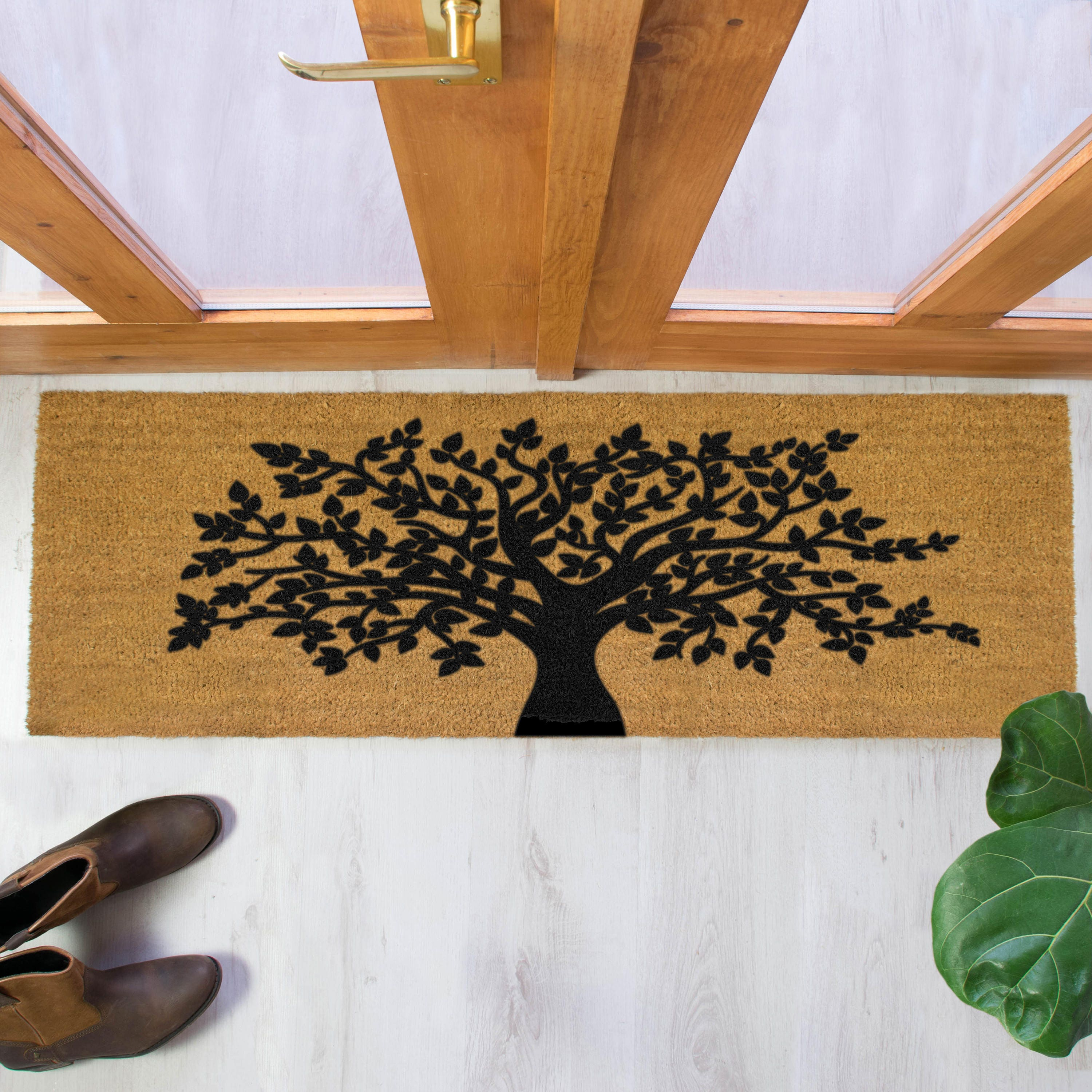 tree of life doormat 120x40cm patio double door mat etsy. Black Bedroom Furniture Sets. Home Design Ideas