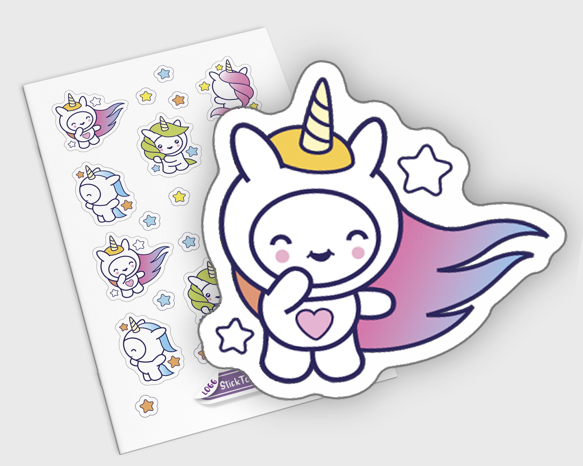 Unicorn Planner Stickers Cute Watercolor Stickers Aesthetic Etsy