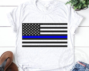 American Flag SVG, Thin Blue Line svg, Law enforcement svg, Back the blue svg, Blue lives matter svg, Police svg, Eps, Dxf, Jpg, Png files