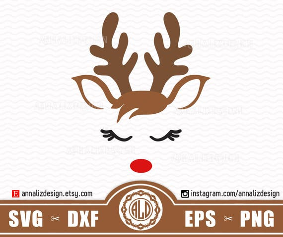 Reindeer svg, Reindeer face svg, Christmas reindeer svg, Red nosed reindeer  svg, Deer svg, Reindeer head svg, Kid christmas svg, Rudolph Svg