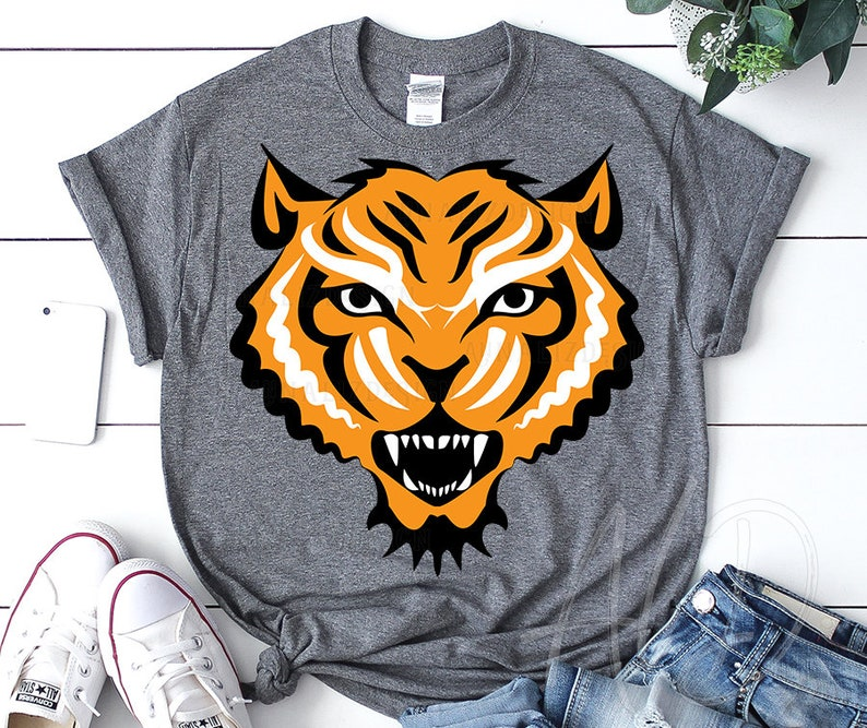 Tiger face svg Wild animal face svg Cut file for Silhouette /& Cricut,Eps Tiger head svg Tiger svg JPG PNG files Kids animals svg DXF