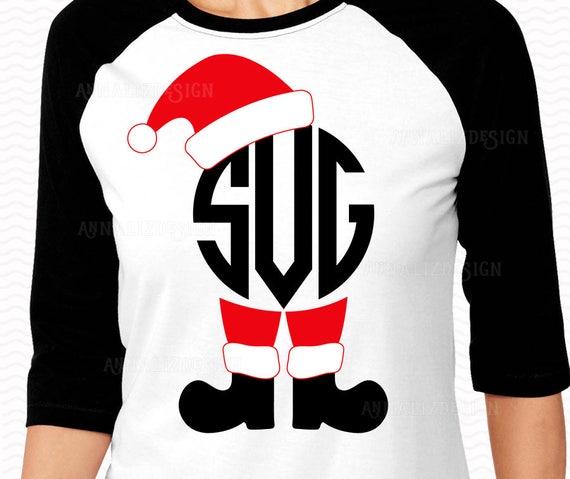 Santa Monogram SVG Christmas SVG Santa svg Christmas