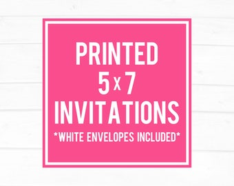 5x7 invitation etsy