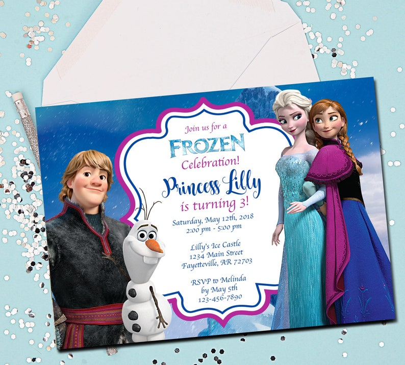FROZEN BIRTHDAY INVITATION Frozen Birthday Invitation