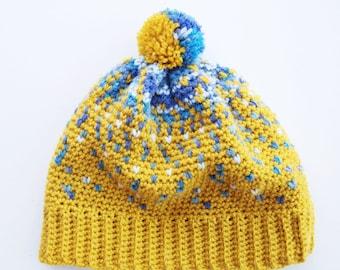 Crochet Hat Pattern - The 'Fara' Fair Isle Hat