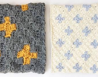 The Two Seasons Cowl Crochet Pattern, Corner to Corner, Geometric, Scandi, C2C Corner2Corner, PDF Instant download Spring Fall Autumn Winter