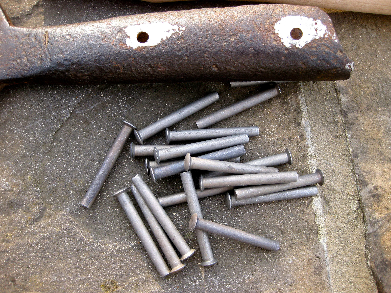 "2/"" Shovel Rivets Fork Shovel Spade Slasher Rake Handle Tool Repair Pin 50x6mm"