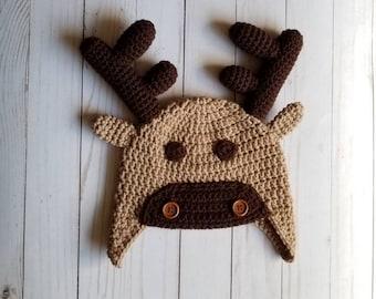 f936febdd0940 Crochet Moose Hat