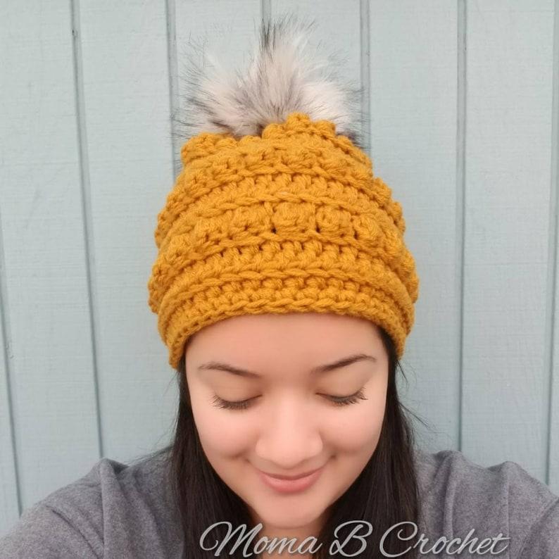 812d1d28841 Crochet Bobble Hat Bobble Hat Crochet Winter Hat Bobble