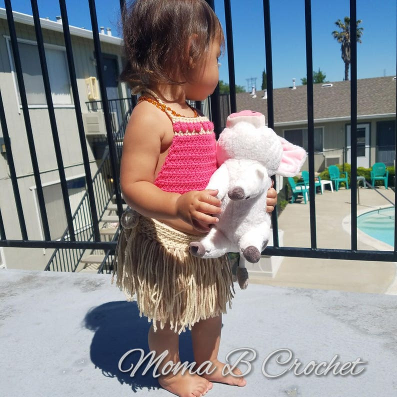 Toddler Moana Costume Moana Outfit Crochet Moana Costume Moana Costume Child Moana Costume Moana Birthday Moana Party