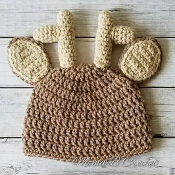 b6ff57f09148 Cerf Hat, cerf chapeau, chapeau de bébé cerf, renne Hat, bébé cerf Bonnet,  cerf Bonnet, bonnet renne en crochet