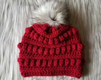 Crochet Bobble Hat, Bobble Hat, Crochet Winter Hat, Bobble Beanie, Toddler Bobble Hat, Child Bobble Hat, Adult Bobble Hat
