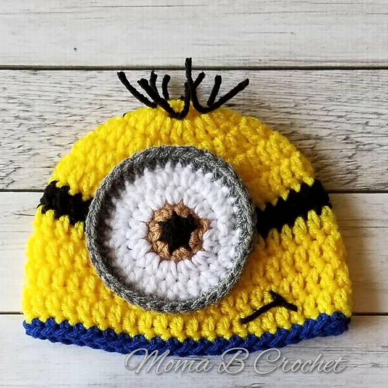 Crochet Minion Hat Minion Hat Baby Minion Hat Child Minion  d6de60e0588