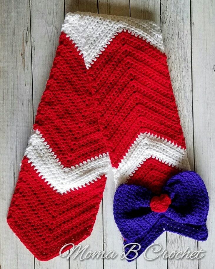 Crochet Sailor Moon Scarf Sailor Mars Scarf Sailor Mars Fan Etsy