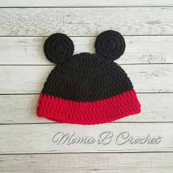 Crochet Mickey Mouse Hat Mickey Mouse Hat Baby Mickey Mouse  08f73ea3aff