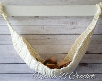 Crochet Newborn Hammock, Newborn Hammock Photo Prop, Baby Hammock Photo Prop