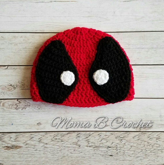 Crochet Deadpool Hat Deadpool Hat Baby Deadpool Hat Child  86ed29086bb