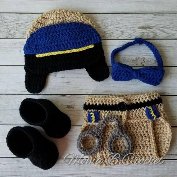 Crochet CHP Baby Set CHP Baby Set CHP Hat Chp Costume  c89fc3679d4