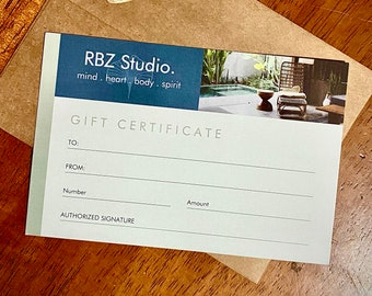 RBZ Gift Certificate