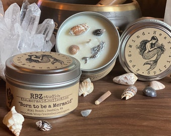 Born to be a Mermaid Soy Candle 6oz Tin