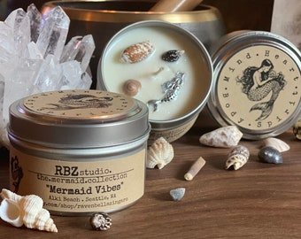 Mermaid Vibes Soy Candle 6oz Tin