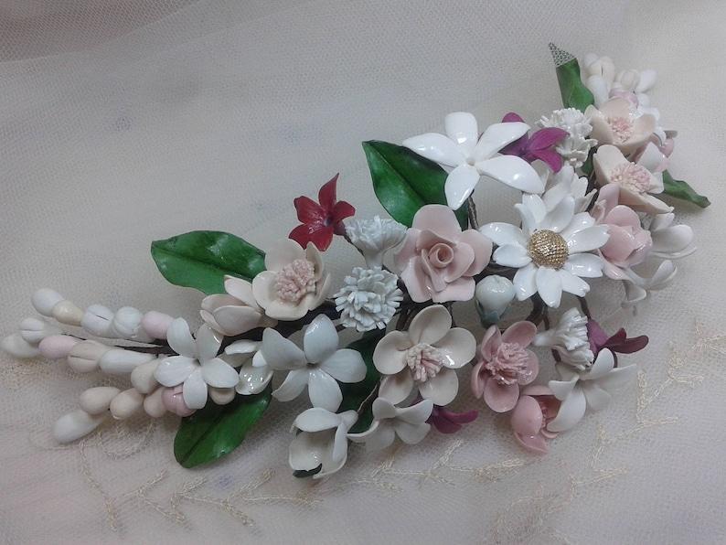 Cherry Blossom Headpiece Bridal Crown Floral Crown Bridal Etsy