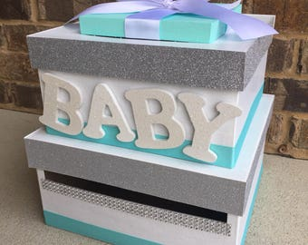 Baby Shower Card Box Etsy
