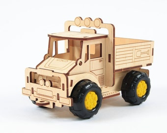 Wooden truck, eco & creative toys;