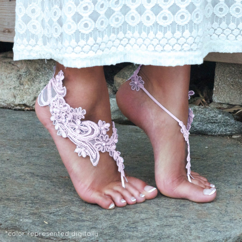 a65fd57502605f PALE PINK Lace Bare foot Sandals LISA Baby Toddler Child Teen