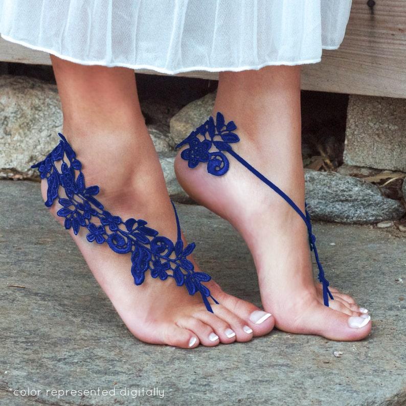 9f63ff81b2ba6 ROYAL BLUE Barefoot Sandals LYNSAY Bare Foot Lifestyle Cruise