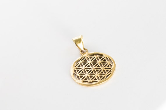 Sacred Geometry Jewelry Flower of Life Necklace with Stainless Steel Bail Spiritual Jewelry Meditation /& Yoga