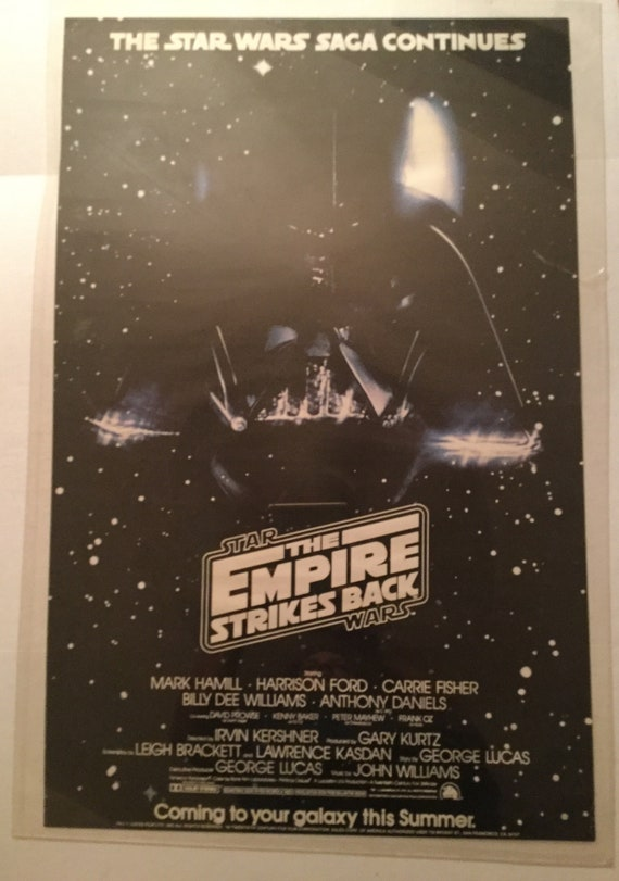 Darth Vader 1983 The Empire Strikes Back Vintage Star Wars Movie Poster