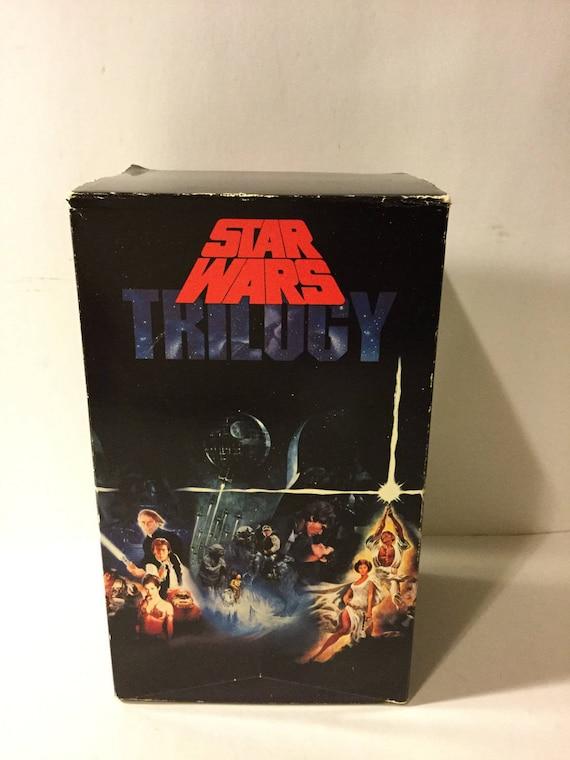Vintage Star Wars Original Trilogy Vhs Tapes 1977 1983 Etsy