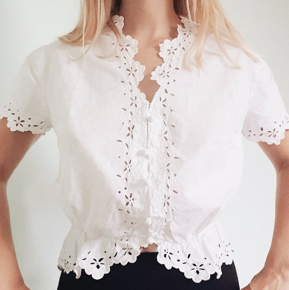 French Corset Cover White Blouse
