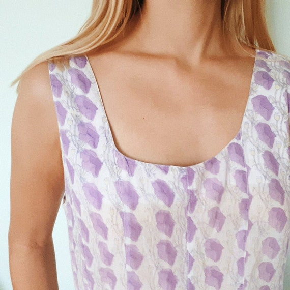 Anokhi Lilac Indian Block Print Dress - image 2
