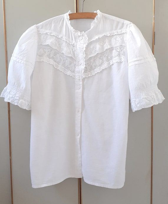 Cotton Frilly Blouse