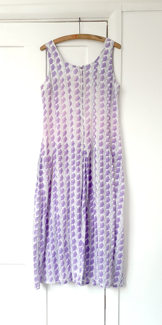 Anokhi Lilac Indian Block Print Dress - image 5