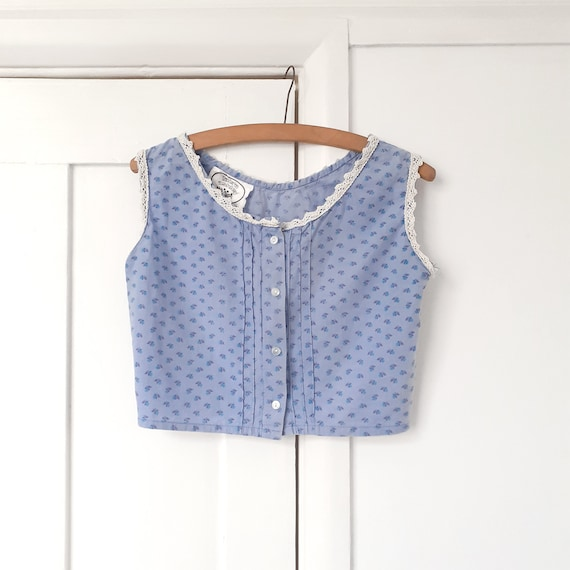 Laura Ashley 70s Floral Top