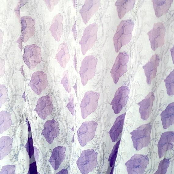 Anokhi Lilac Indian Block Print Dress - image 4