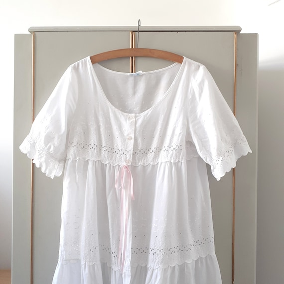 Broderie Anglaise Babydoll Robe
