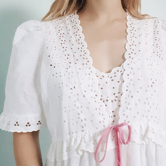Broderie Anglaise Night Set