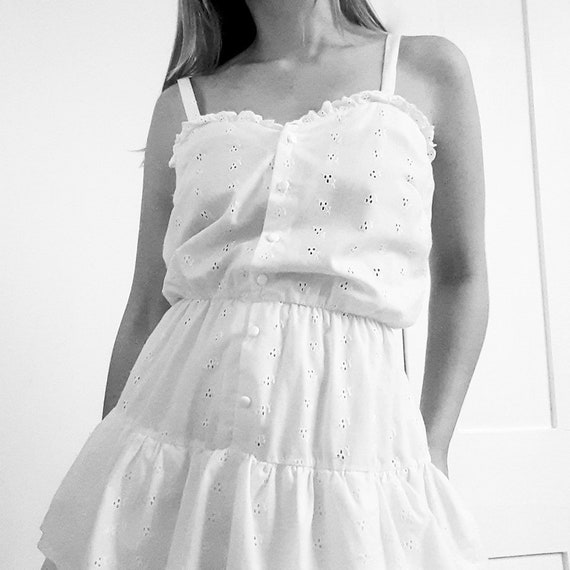 Broderie Anglaise Tiered Dress