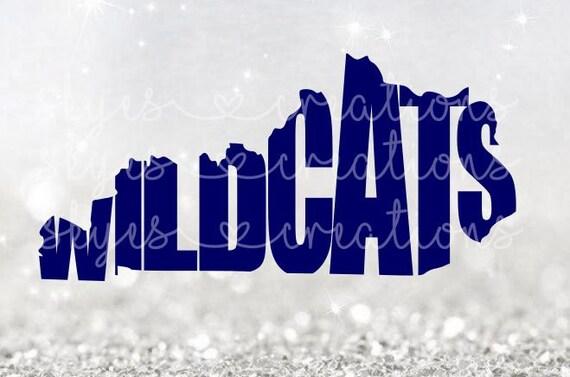 kentucky ky wildcats uk university of kentucky svg etsy