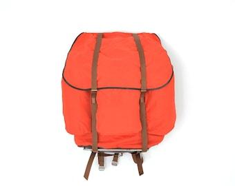 Vintage Red Hiking Backpack  // HUGE Vintage Rucksack